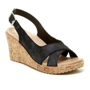 Crocs A-Leigh Crisscross Slingback Wedge Sandal 8